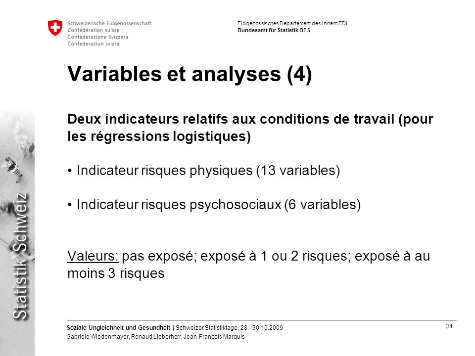 Variables et analyses (4)