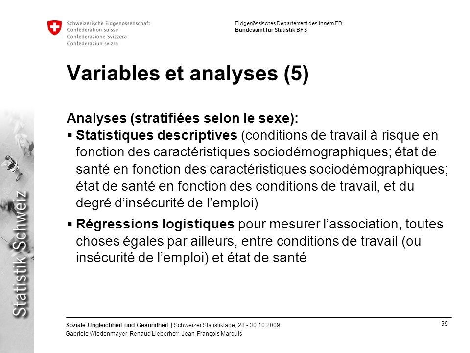 Variables et analyses (5)