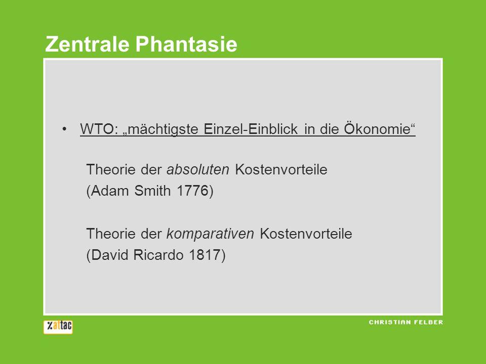 """Zentrale Phantasie WTO: """"mächtigste Einzel-Einblick in die Ökonomie"""