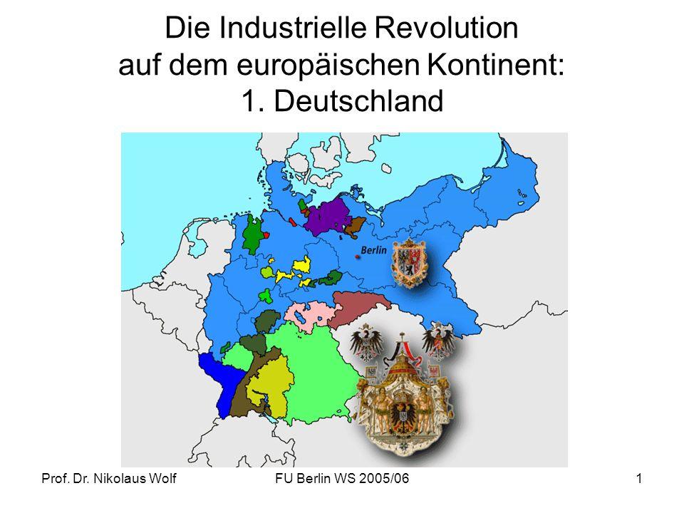 Die Industrielle Revolution auf dem europäischen Kontinent: 1