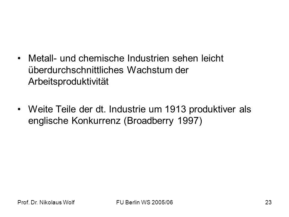 Metall- und chemische Industrien sehen leicht überdurchschnittliches Wachstum der Arbeitsproduktivität