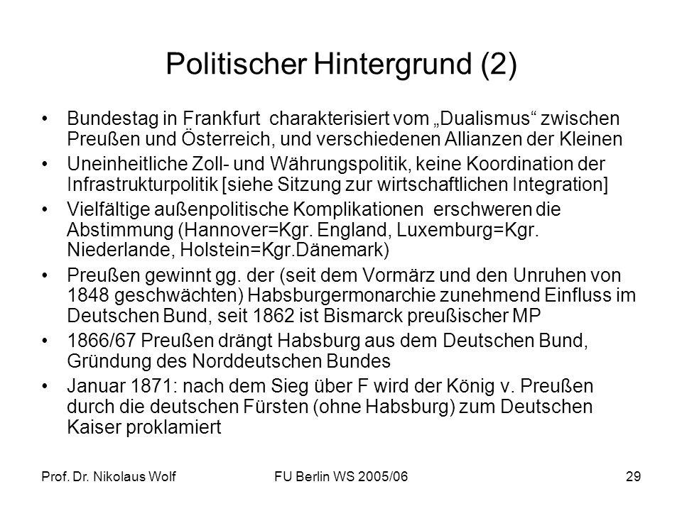 Politischer Hintergrund (2)