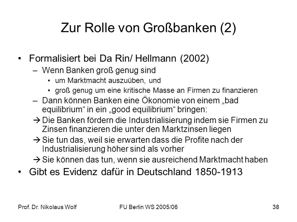 Zur Rolle von Großbanken (2)