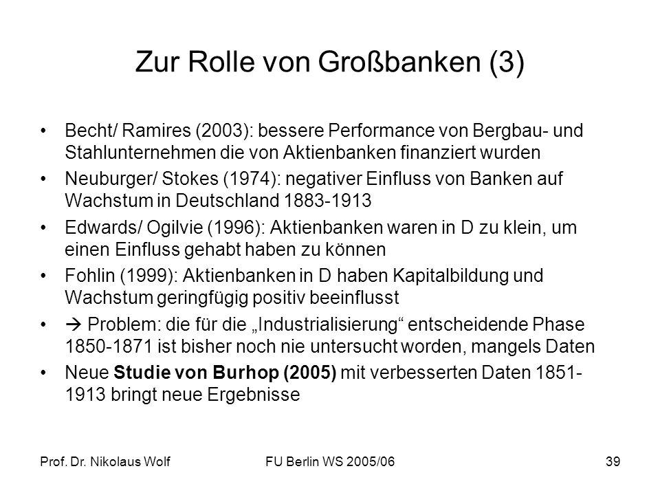 Zur Rolle von Großbanken (3)