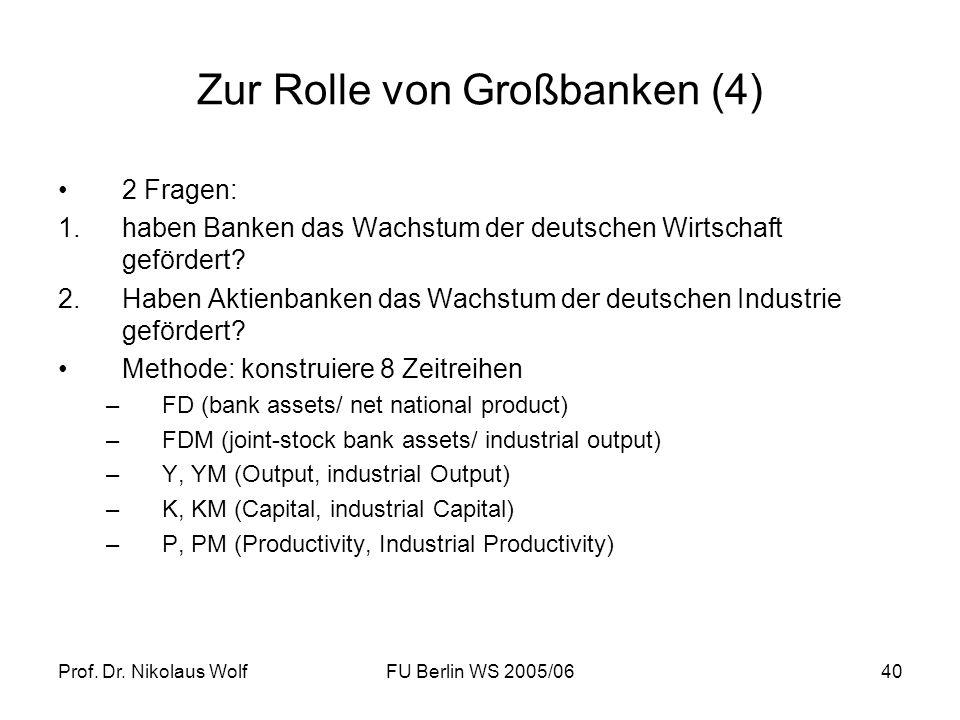 Zur Rolle von Großbanken (4)