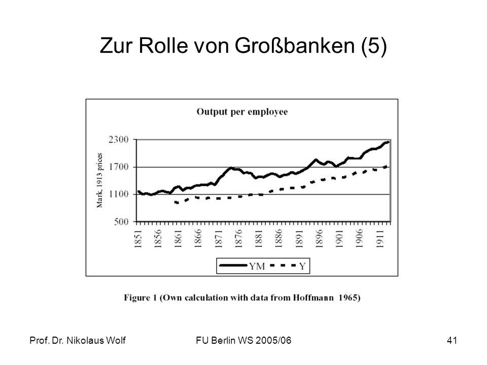 Zur Rolle von Großbanken (5)