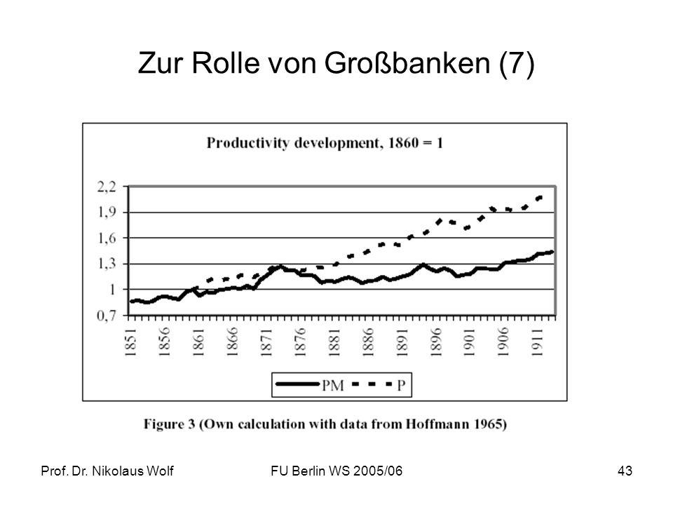 Zur Rolle von Großbanken (7)