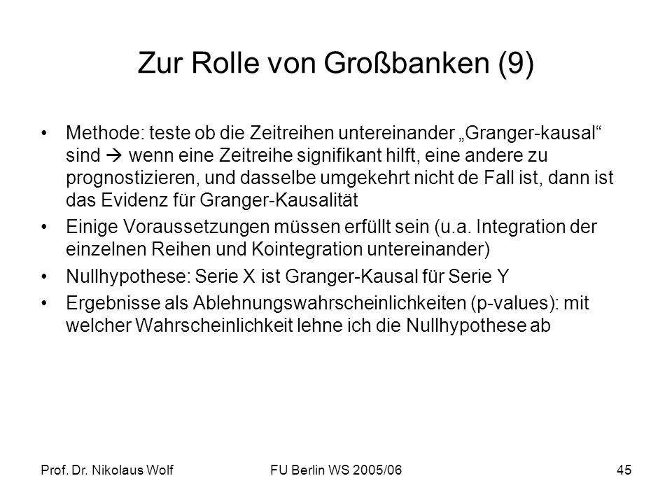 Zur Rolle von Großbanken (9)