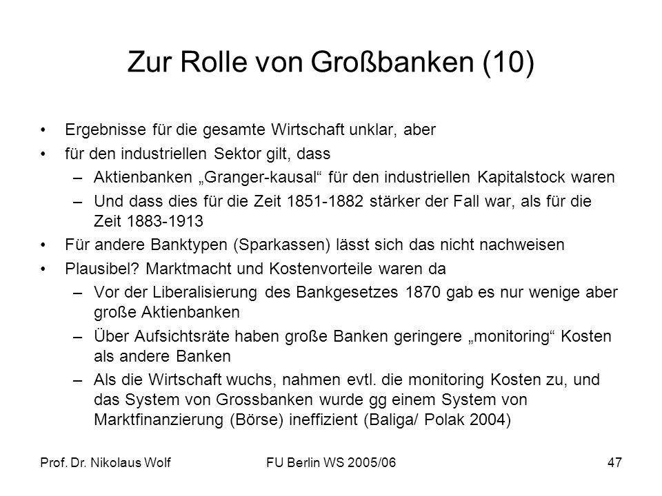 Zur Rolle von Großbanken (10)