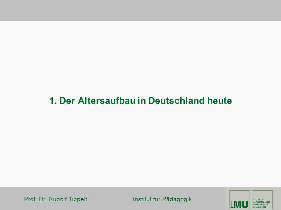 1. Der Altersaufbau in Deutschland heute