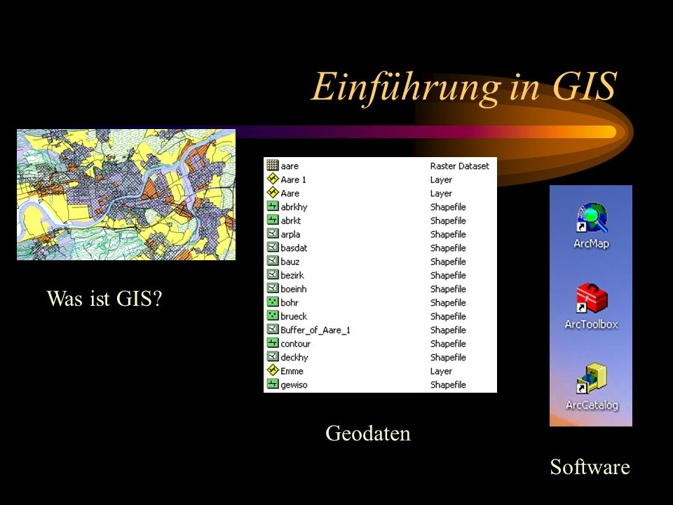 Einführung in GIS Was ist GIS Geodaten Software