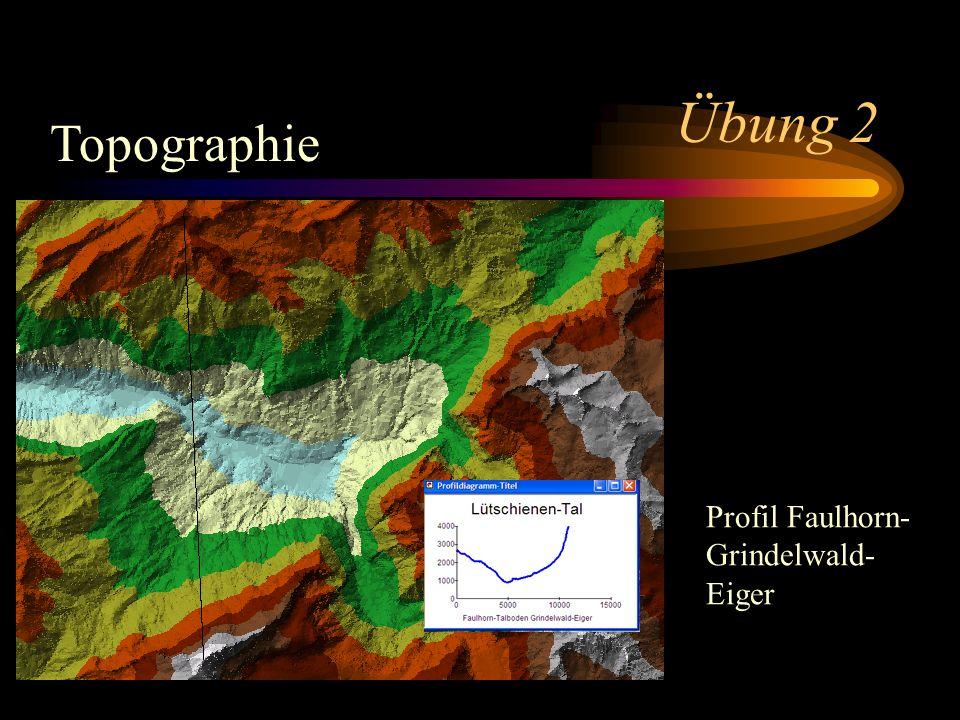 Übung 2 Topographie Profil Faulhorn- Grindelwald- Eiger