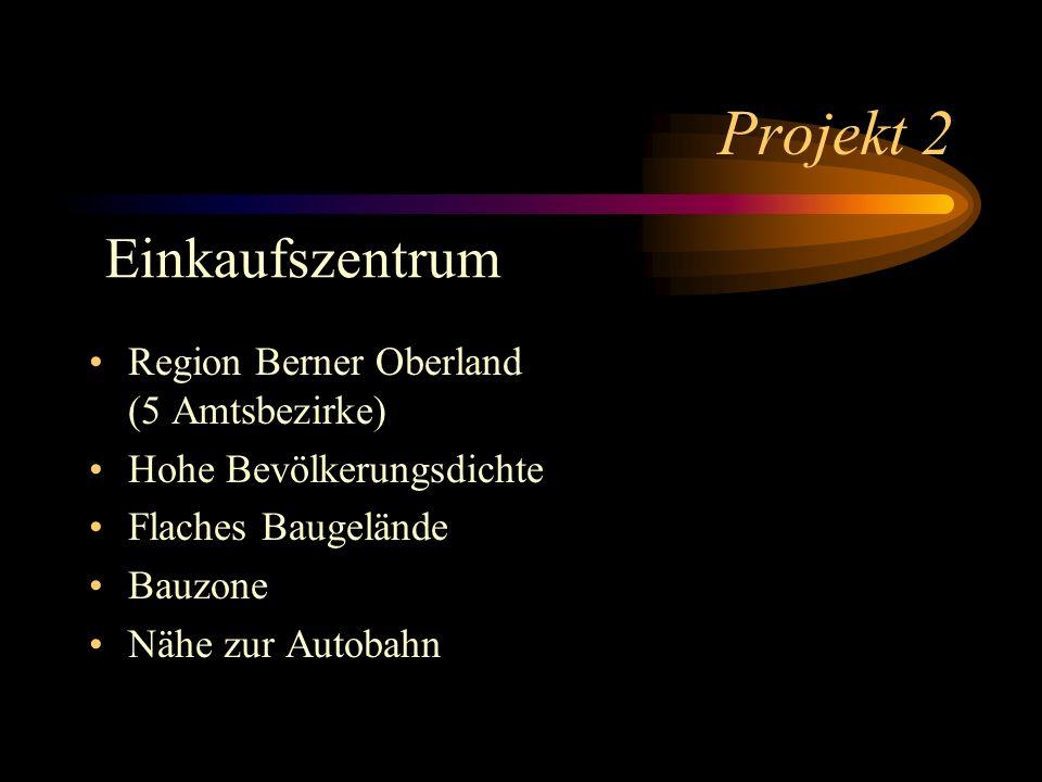 Projekt 2 Einkaufszentrum Region Berner Oberland (5 Amtsbezirke)
