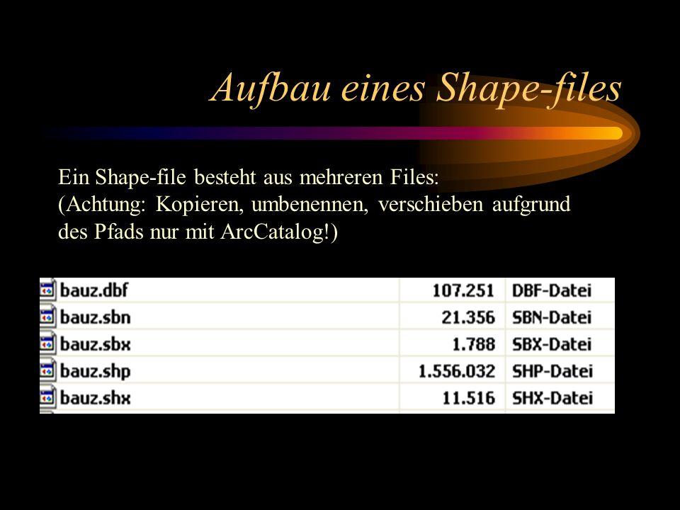 Aufbau eines Shape-files