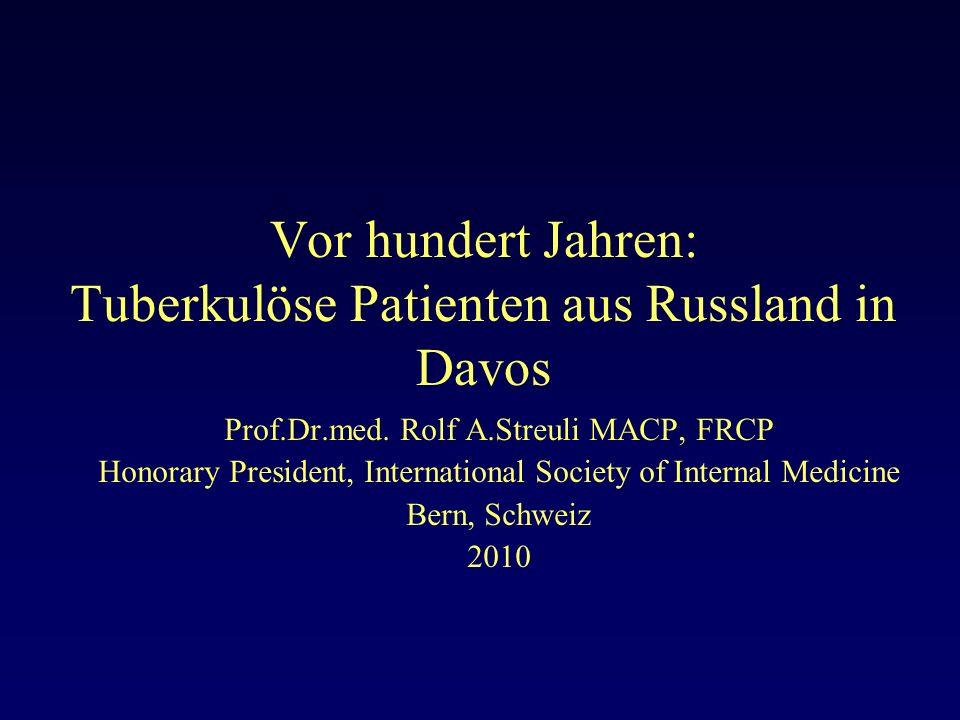 Vor hundert Jahren: Tuberkulöse Patienten aus Russland in Davos