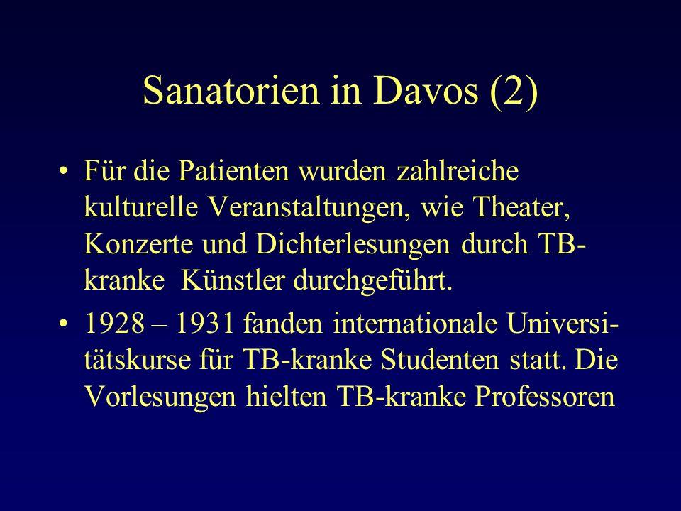Sanatorien in Davos (2)