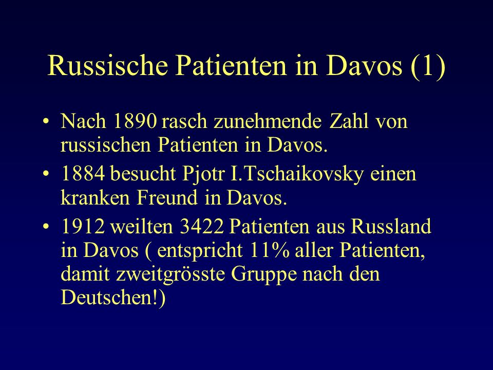 Russische Patienten in Davos (1)