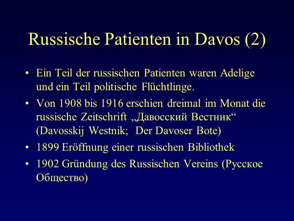 Russische Patienten in Davos (2)