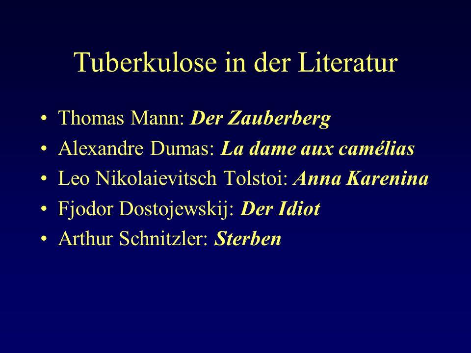 Tuberkulose in der Literatur