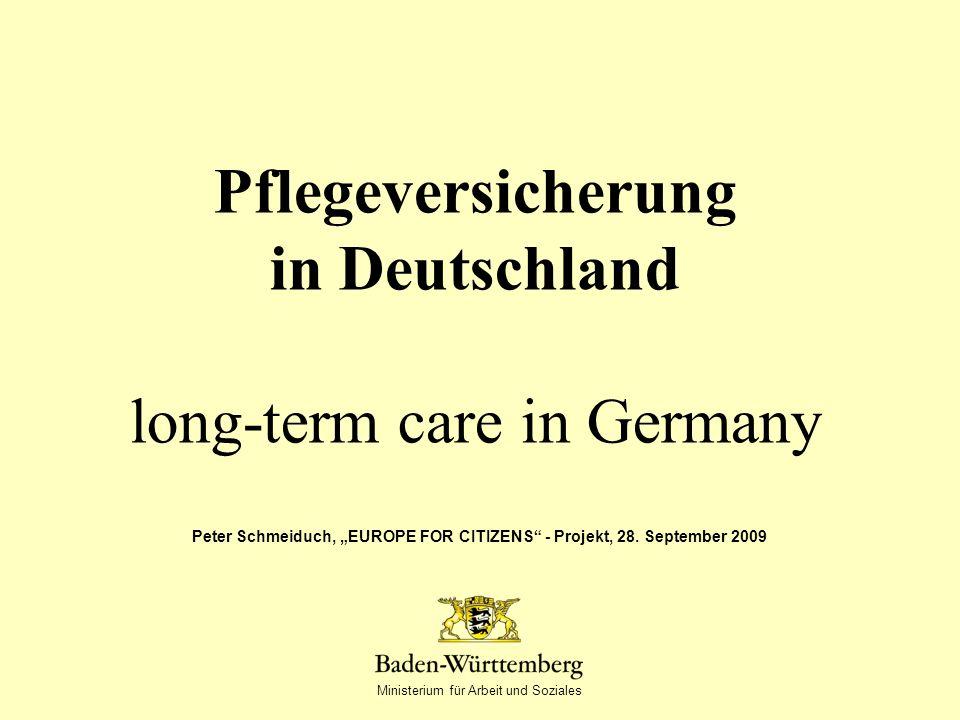 Pflegeversicherung in Deutschland long-term care in Germany