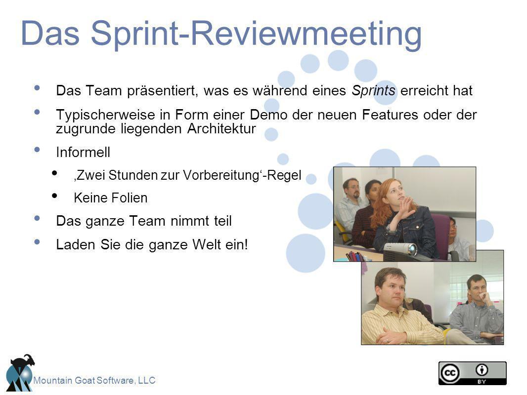 Das Sprint-Reviewmeeting