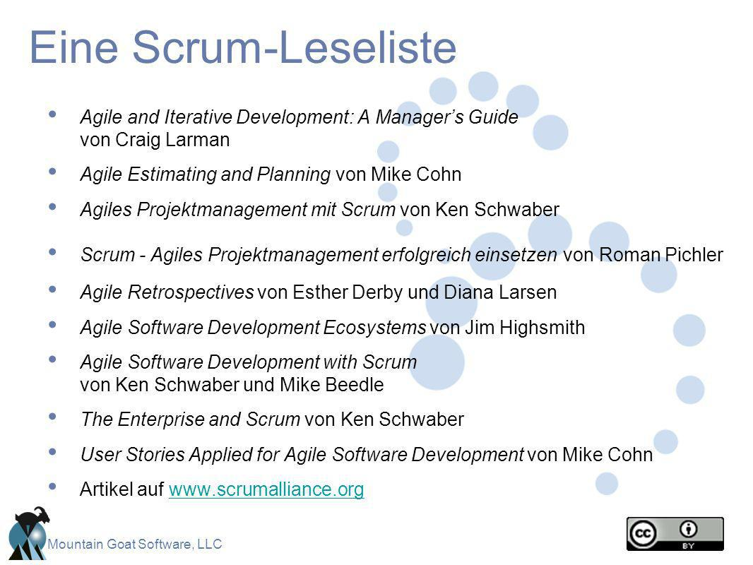 Eine Scrum-Leseliste Agile and Iterative Development: A Manager's Guide von Craig Larman. Agile Estimating and Planning von Mike Cohn.