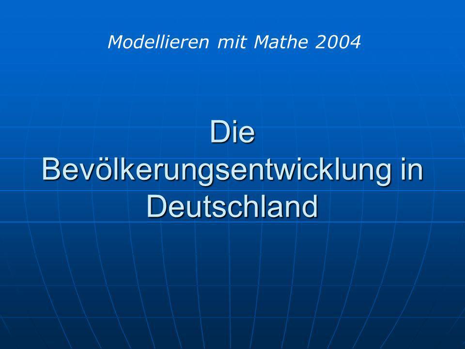 Die Bevölkerungsentwicklung in Deutschland
