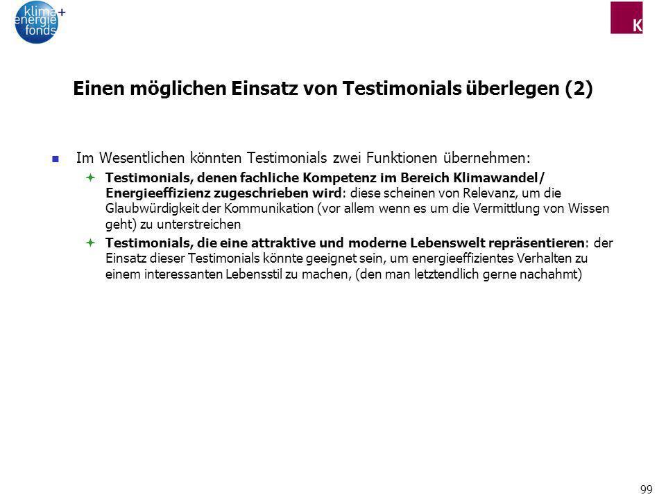 Einen möglichen Einsatz von Testimonials überlegen (2)