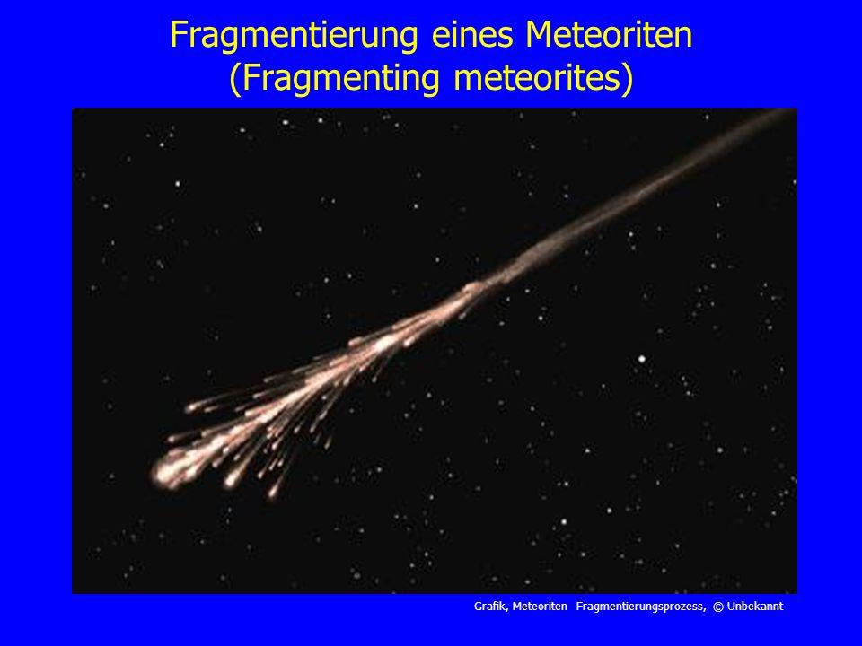 Fragmentierung eines Meteoriten (Fragmenting meteorites)