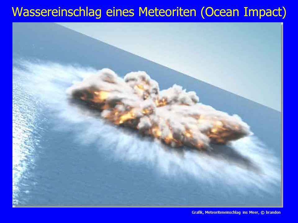 Wassereinschlag eines Meteoriten (Ocean Impact)