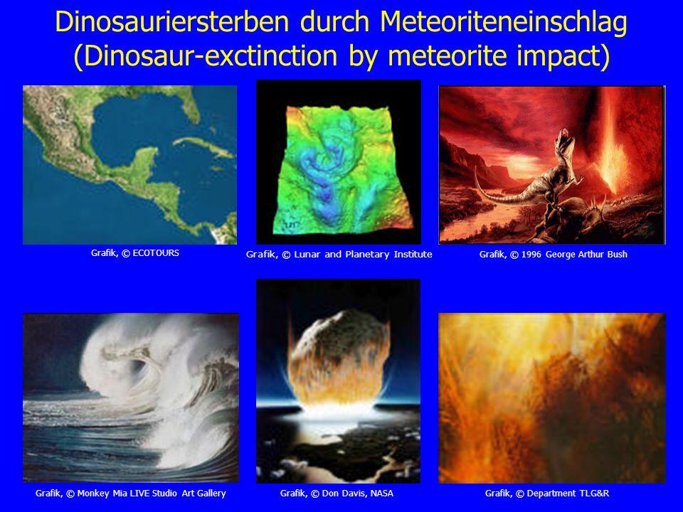 Dinosauriersterben durch Meteoriteneinschlag (Dinosaur-exctinction by meteorite impact)