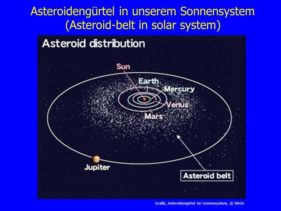 Asteroidengürtel in unserem Sonnensystem (Asteroid-belt in solar system)