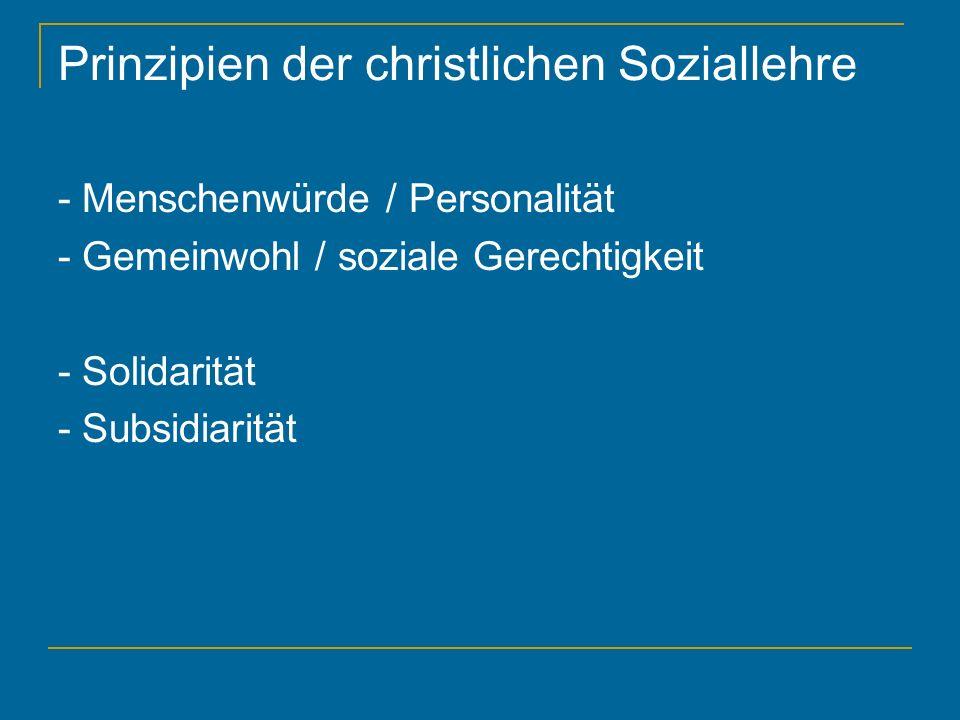 Prinzipien der christlichen Soziallehre