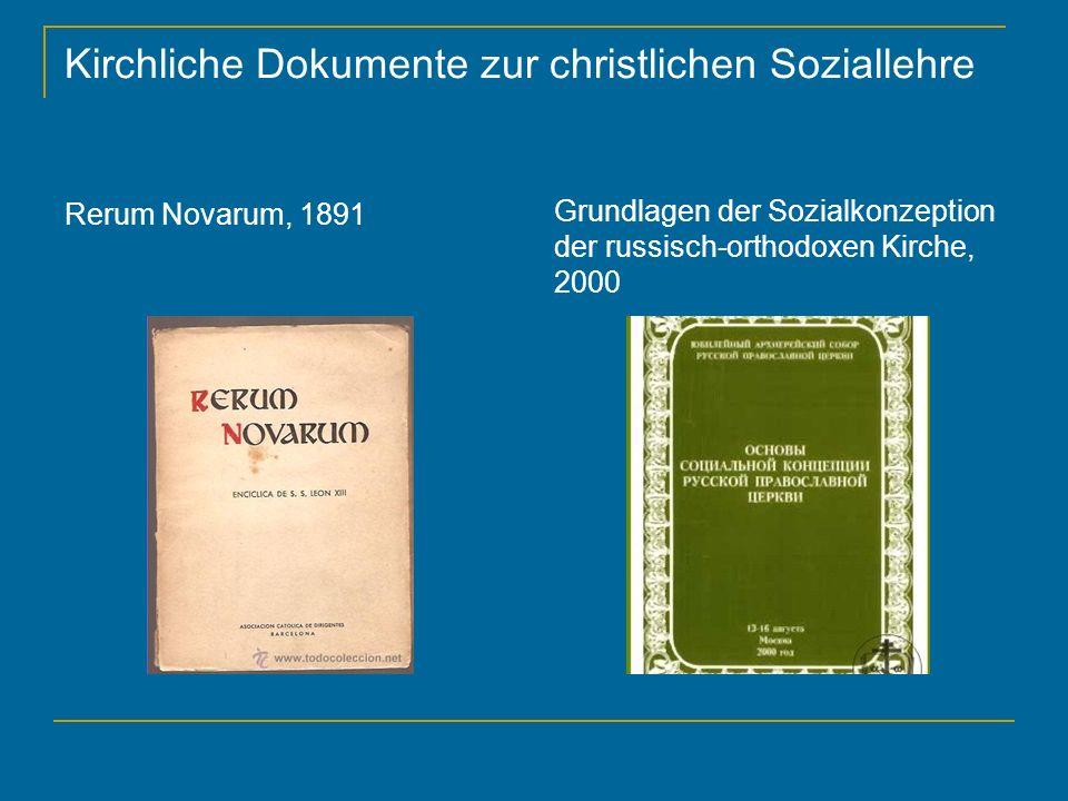 Kirchliche Dokumente zur christlichen Soziallehre