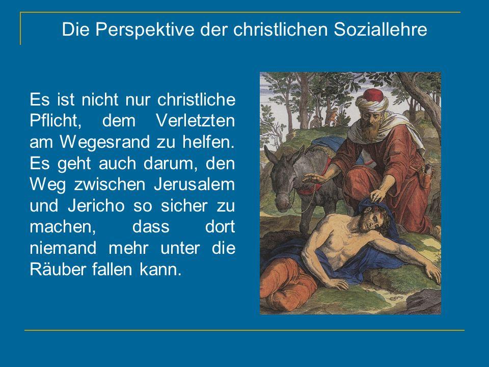 Die Perspektive der christlichen Soziallehre