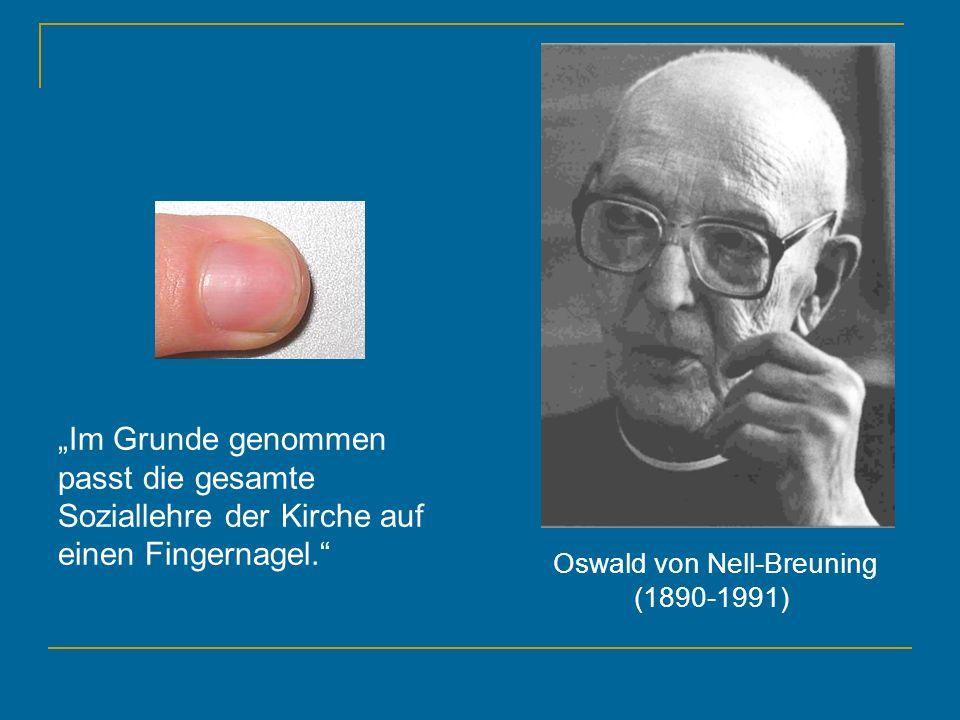 Oswald von Nell-Breuning (1890-1991)