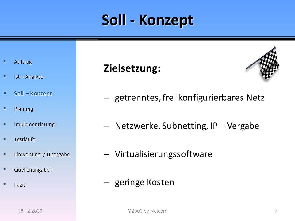 Soll - Konzept Zielsetzung: getrenntes, frei konfigurierbares Netz