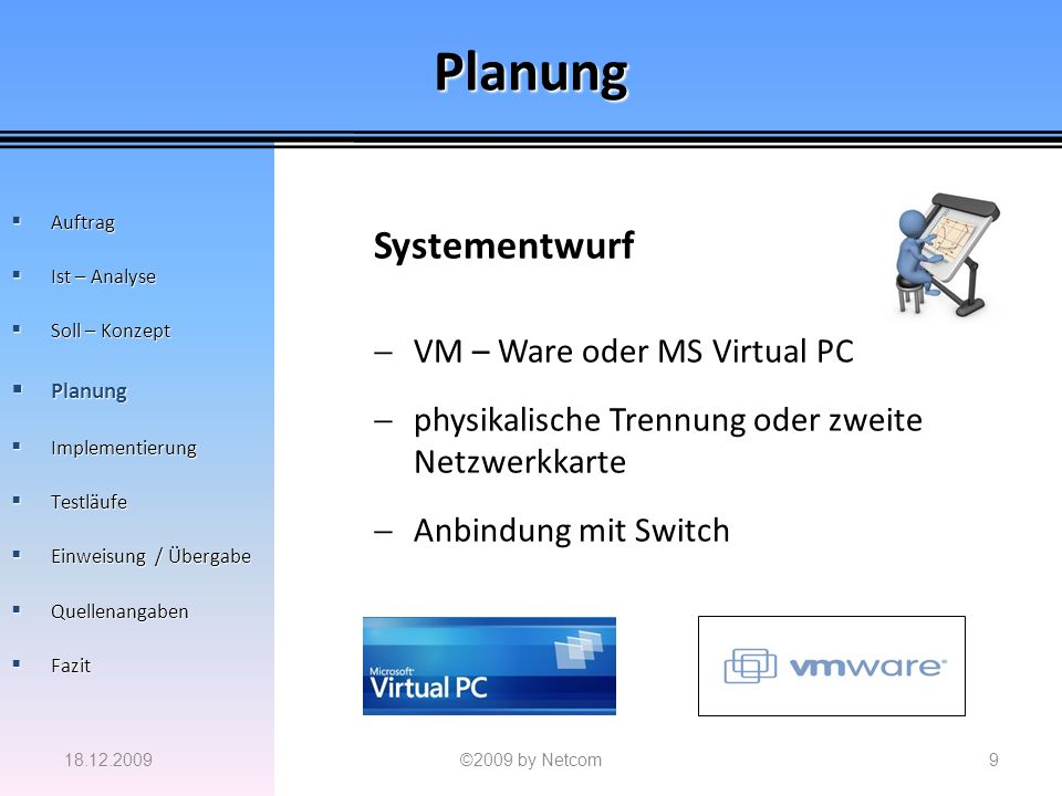 Planung Systementwurf VM – Ware oder MS Virtual PC