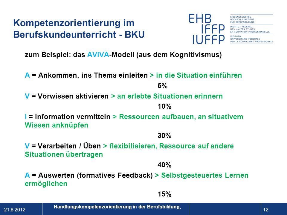 Kompetenzorientierung im Berufskundeunterricht - BKU