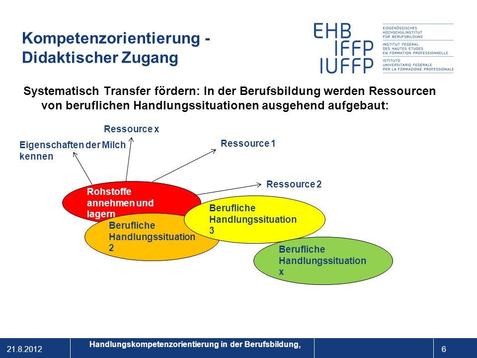 Kompetenzorientierung - Didaktischer Zugang