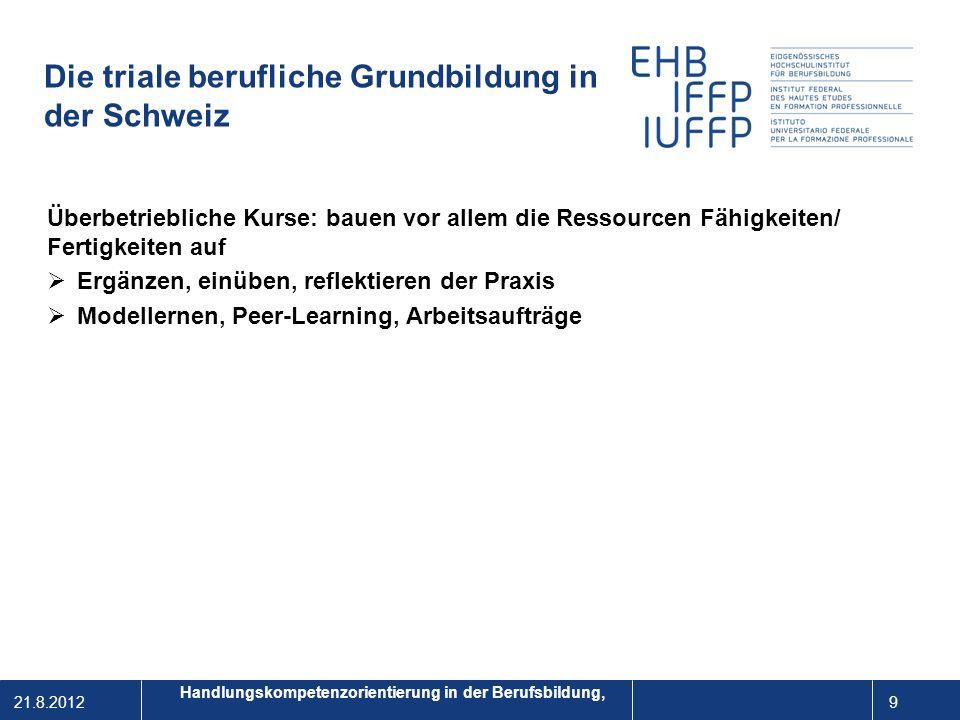 Die triale berufliche Grundbildung in der Schweiz