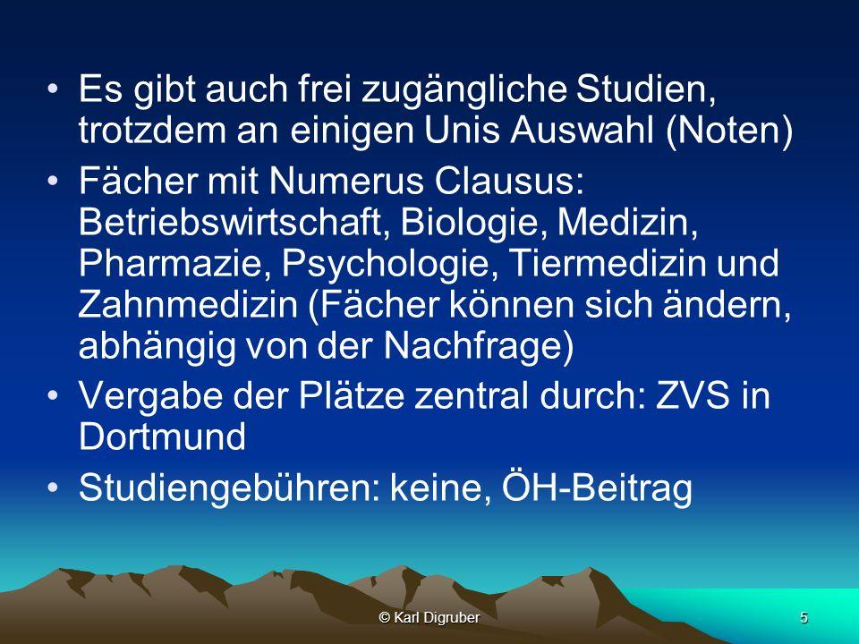 Vergabe der Plätze zentral durch: ZVS in Dortmund