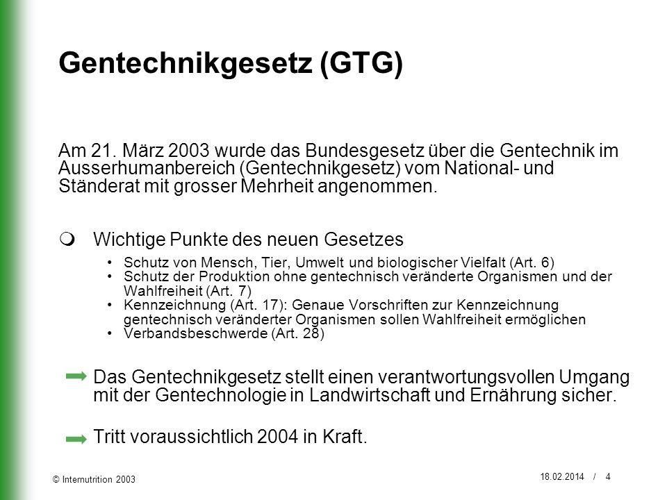 Gentechnikgesetz (GTG)