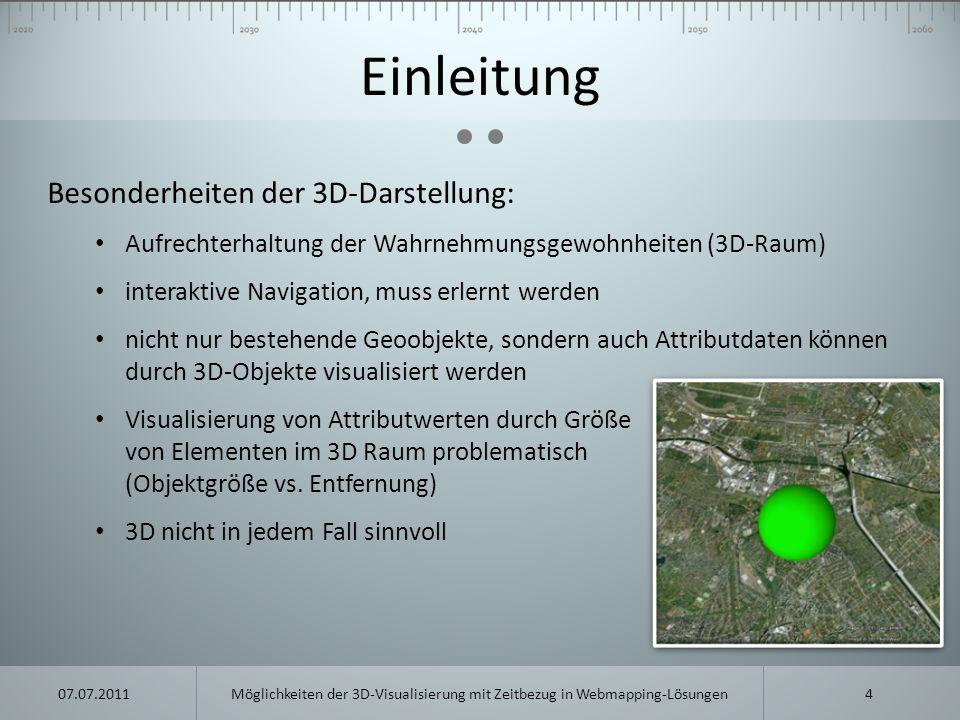Einleitung Besonderheiten der 3D-Darstellung: