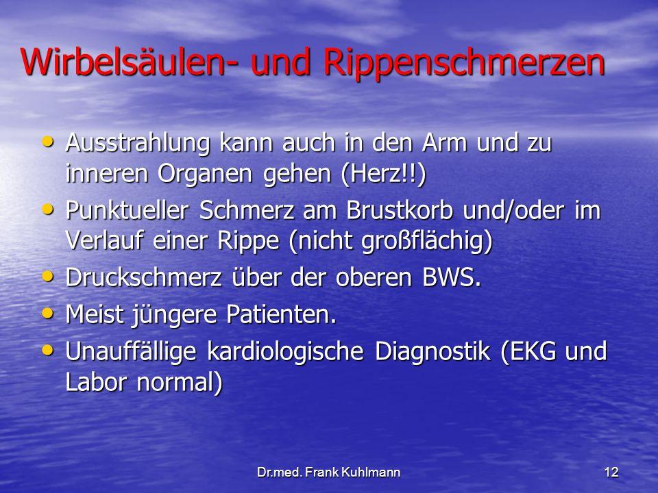 Wirbelsäulen- und Rippenschmerzen