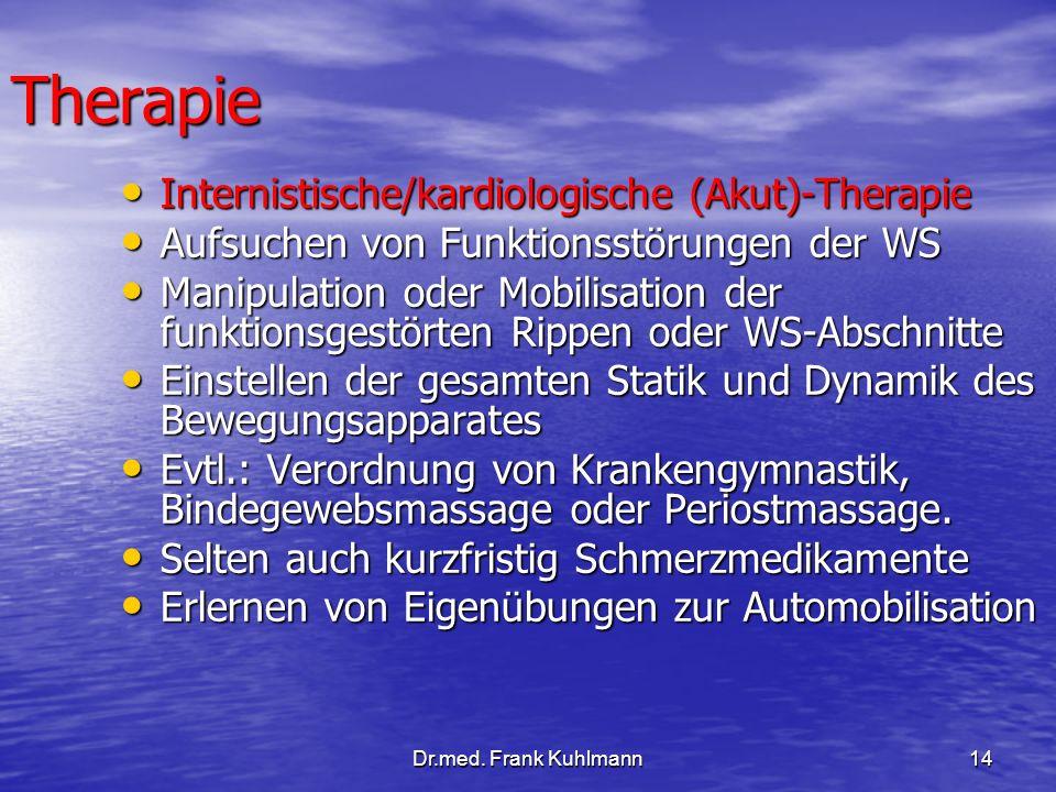 Therapie Internistische/kardiologische (Akut)-Therapie