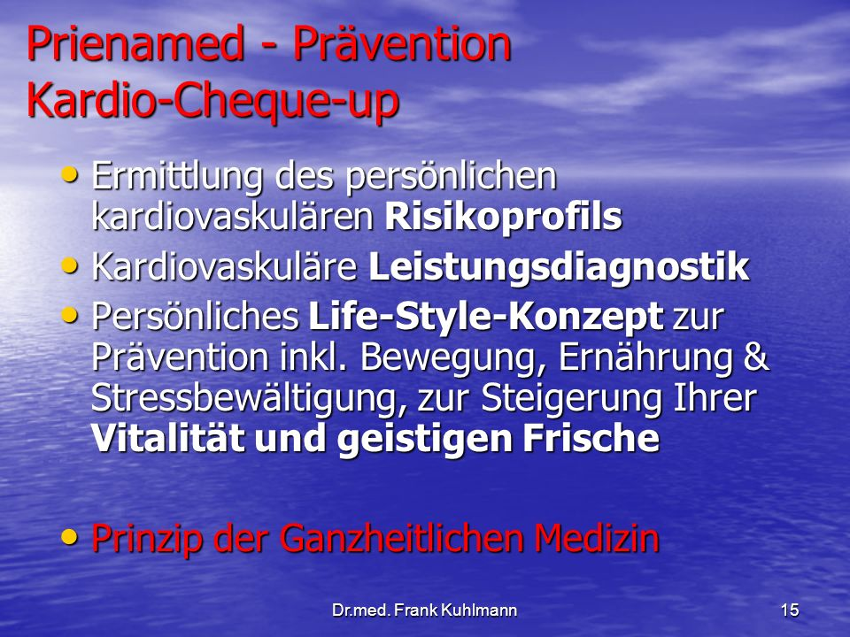 Prienamed - Prävention Kardio-Cheque-up