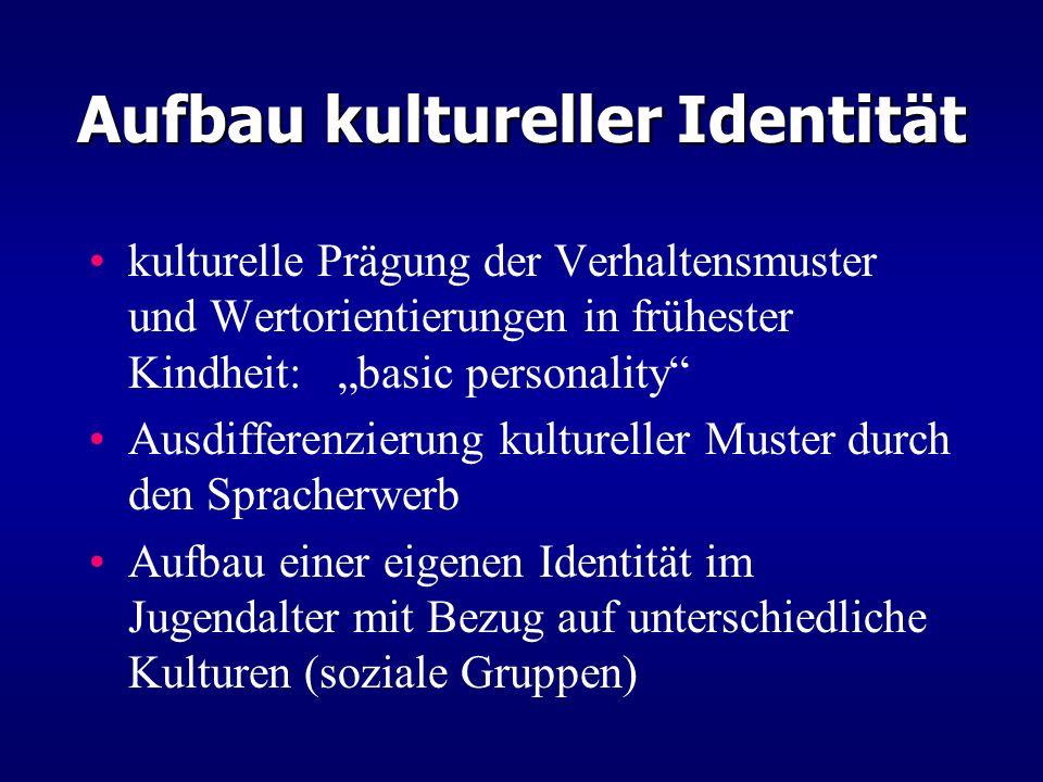 Aufbau kultureller Identität