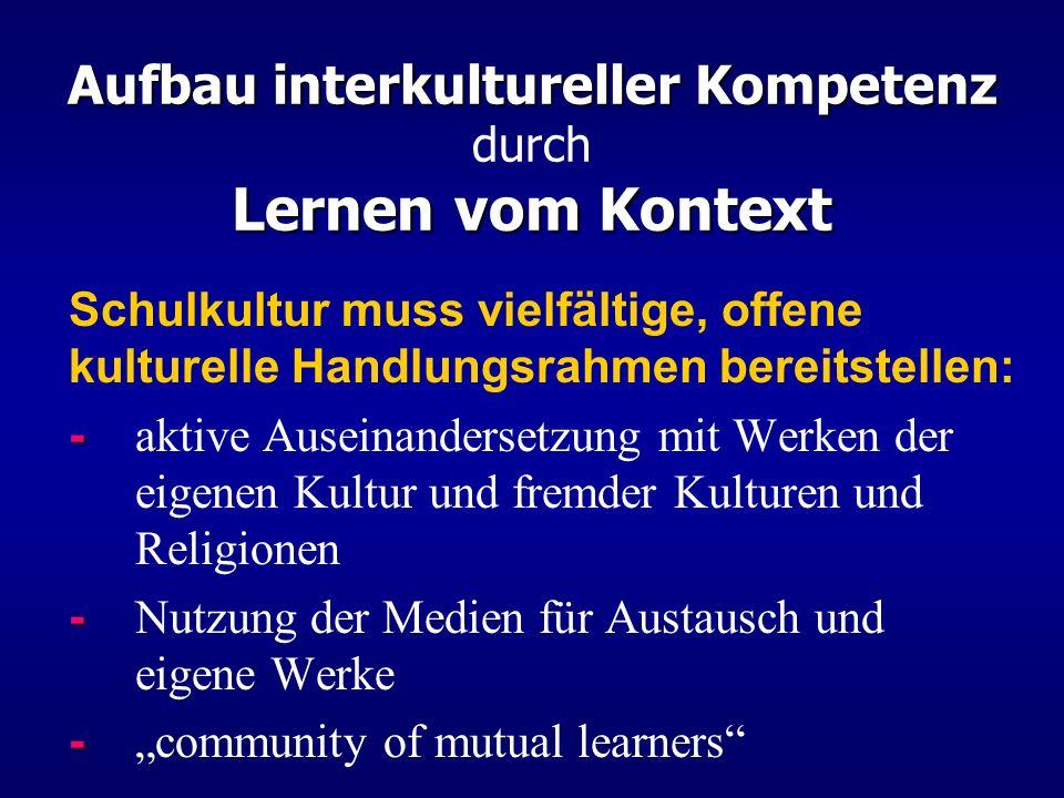 Aufbau interkultureller Kompetenz durch Lernen vom Kontext