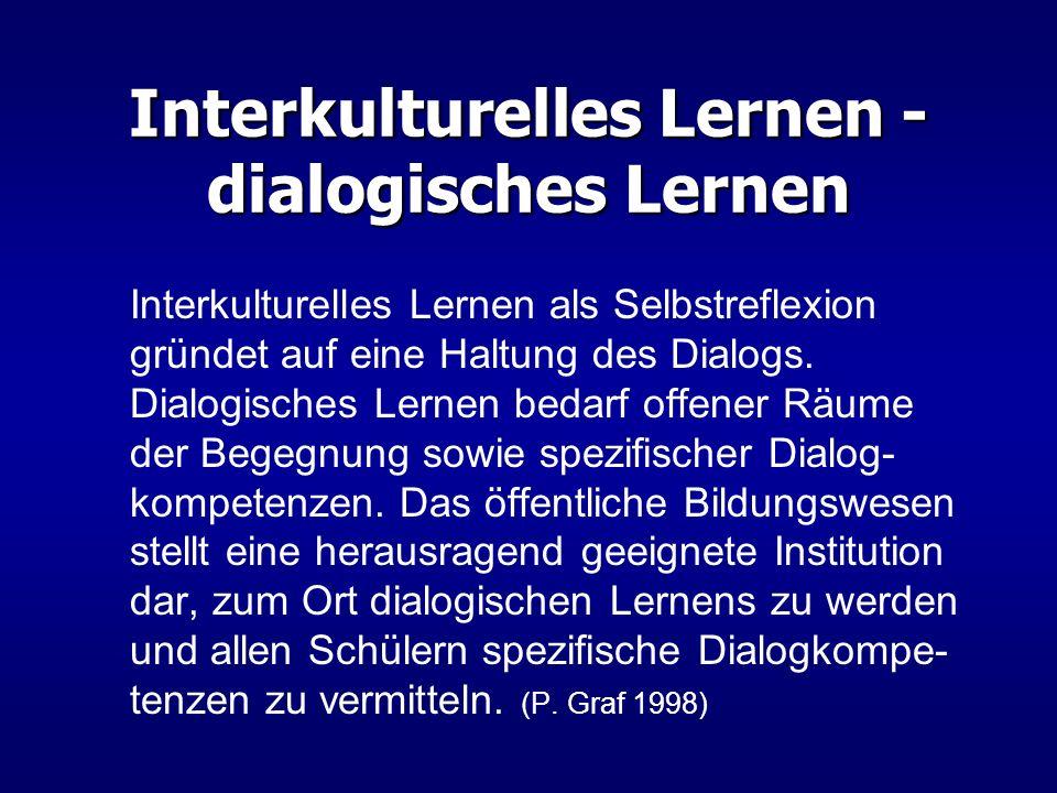 Interkulturelles Lernen - dialogisches Lernen